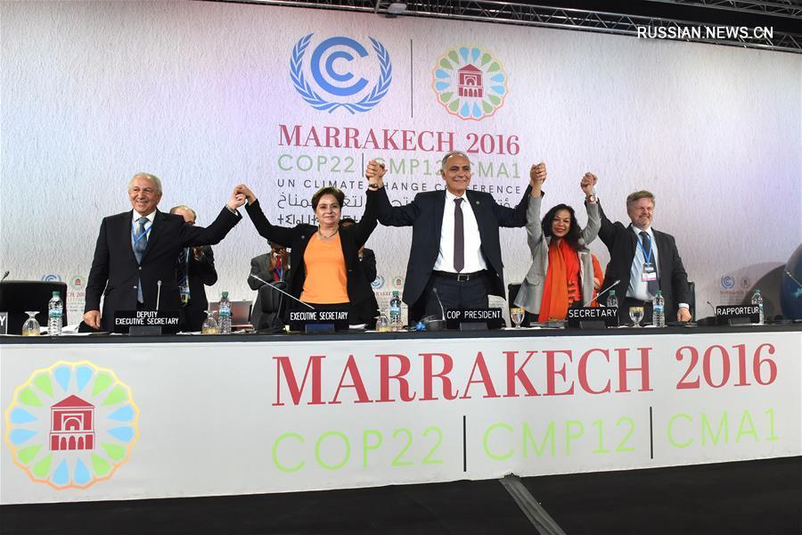Участники Всемирной конференции ООН по вопросам климата (COP-22) в четверг в Марокко приняли 'Марракешскую декларацию о действиях'.