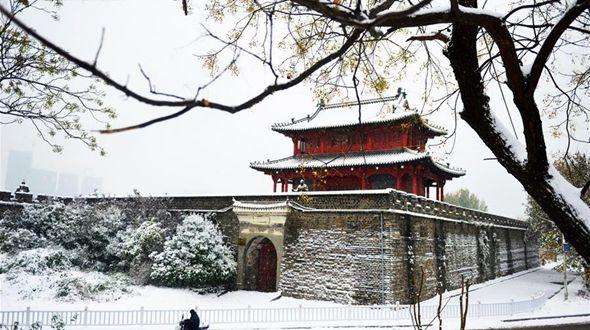 Снег на востоке Китая