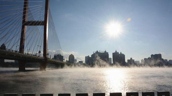 Зимние туманы над Китаем