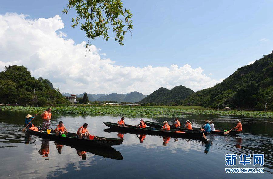Живописные летние пейзажи в уезде Цюбэй провинции Юньнань