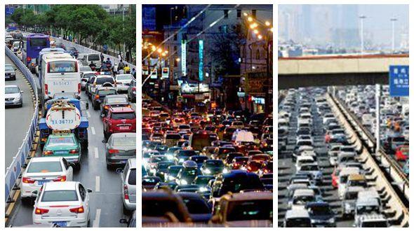 Топ-10 китайских городов с самым худшим автомобильным движением