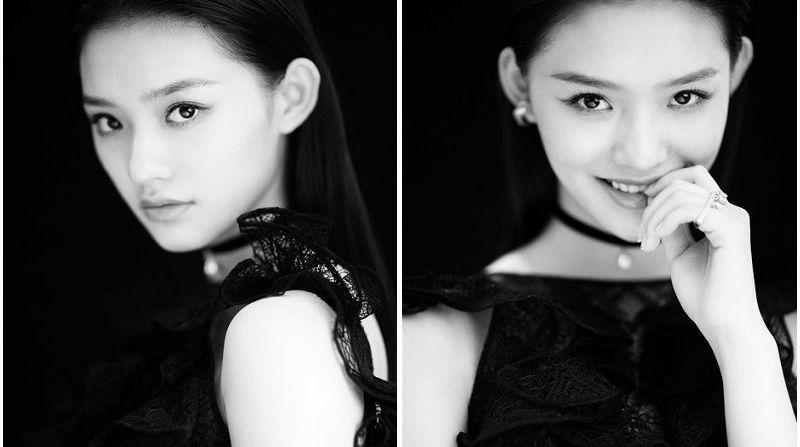 Восходящая кинозвезда Линь Юнь в черно-белых фото