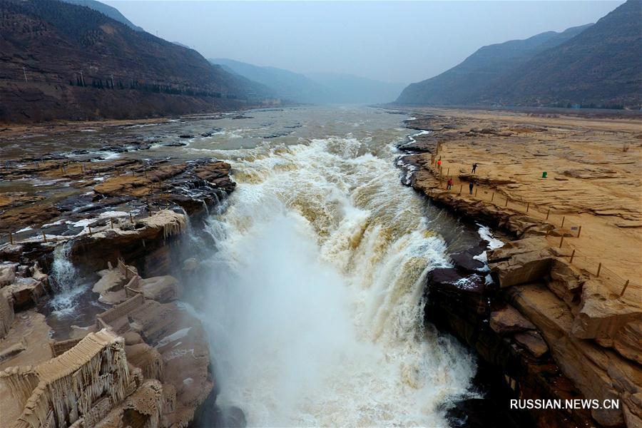 Водопад Хукоу на реке Хуанхэ