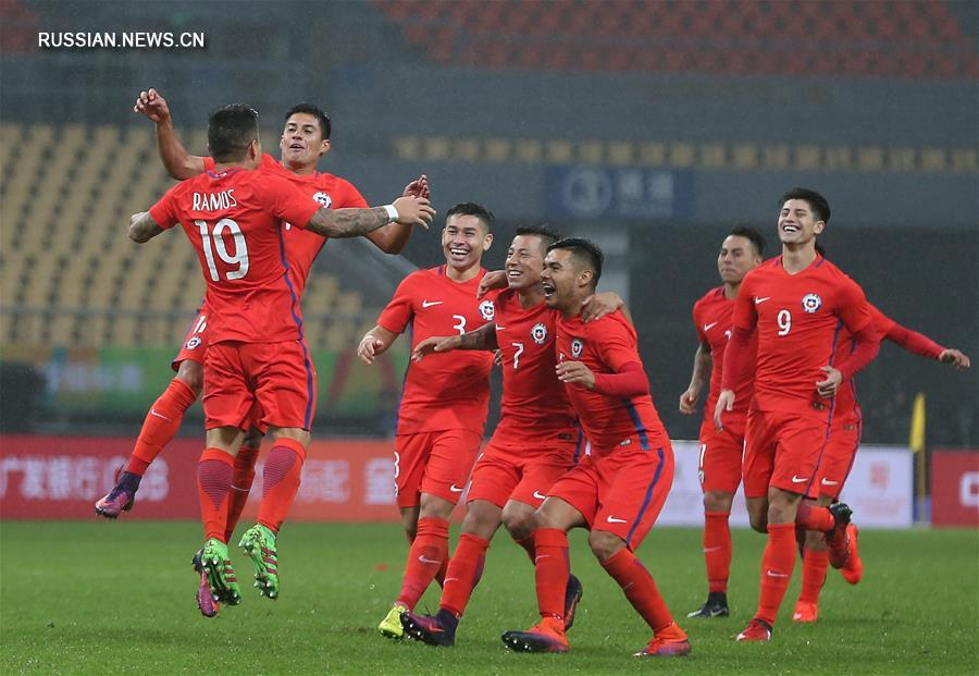 Футбол -- Международный турнир 'Кубок Китая': Чили -- Хорватия