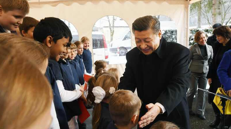 Си Циньпин высоко оценил приветствие детского хора в Швейцарии