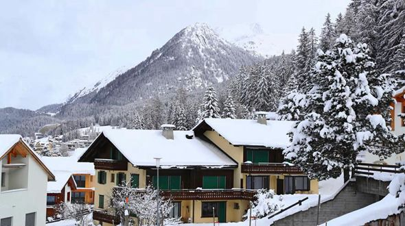 Швейцарский город Давос