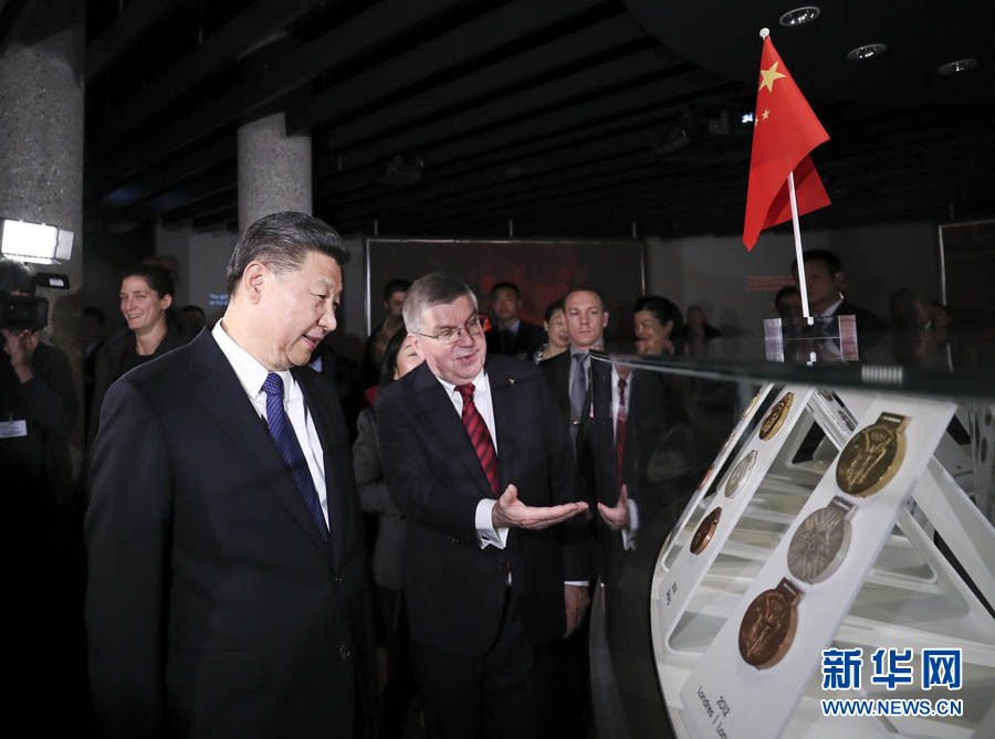Председатель КНР Си Цзиньпин в среду встретился с президентом Международного олимпийского комитета /МОК/ Томасом Бахом.