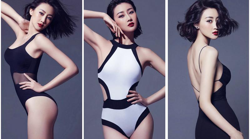 Красотка Линь Пэн, показывающая хорошую фигуру