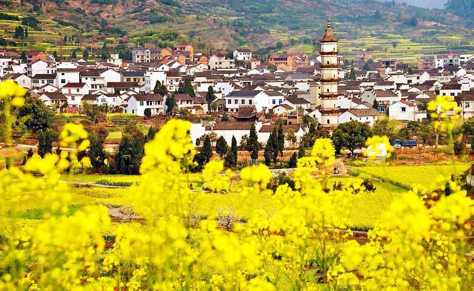 Атмосферные деревенские пейзажи в провинции Чжэзянь