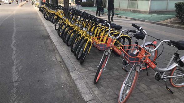 В Китае наблюдается взрывной рост системы совместного использования велосипедов