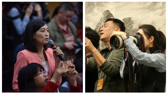 Женщина-корреспонденты на «двух сессиях» Китая: они держат на себе всю ответственность