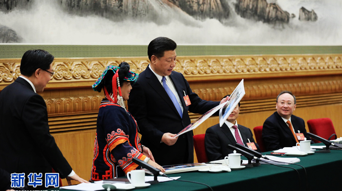 График Си Цзиньпина на двух сессиях: Си Цзиньпин с нами