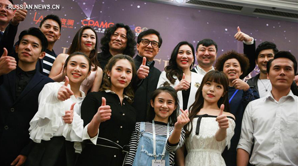Пресс-конференция создателей мюзикла 'Я -- Джеки Чан' в Пекине