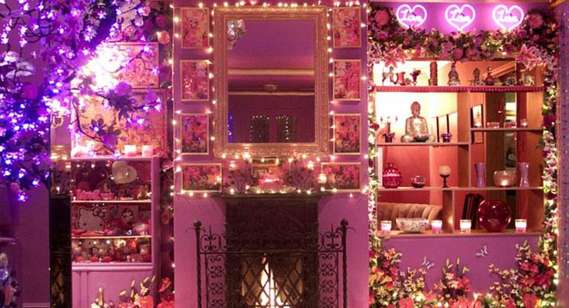 Сказочный розовый дом в Англии