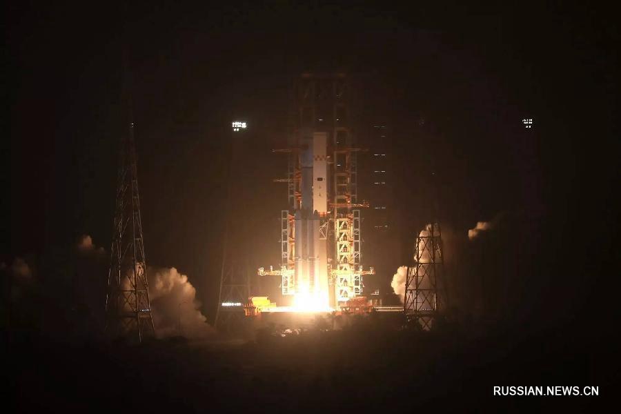 Запуск первого грузового космического корабля Китая «Тяньчжоу-1» в 19:41 20-ого апреля
