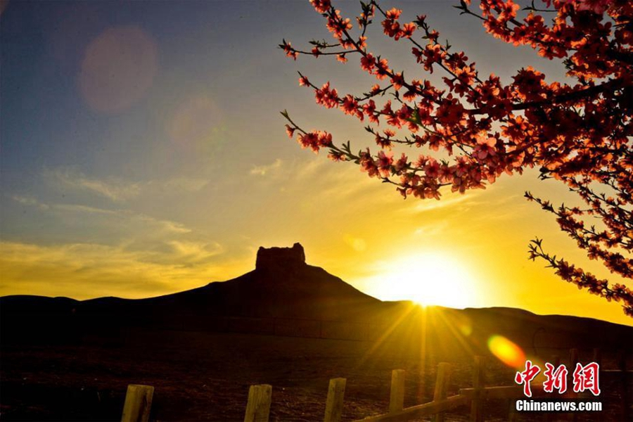 Весна на ?Древнем пути Янъгуань? в г. Дуньхуан провинции Ганьсу