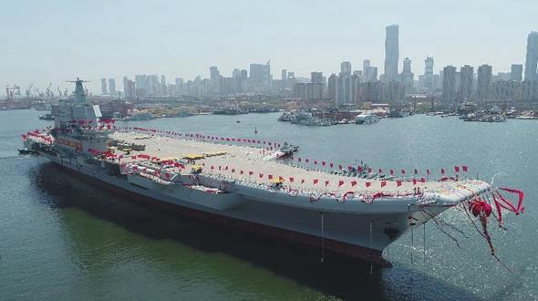 Второй китайский авианосец запущен в воду