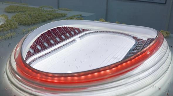 Представлен проектный вариант Государственного катка для скоростного бега на коньках, посвященного Зимней Олимпиаде-2022 в Пекине