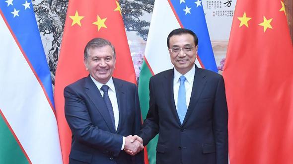 /Пояс и путь/ Ли Кэцян встретился с президентом Узбекистана Ш.Мирзиеевым