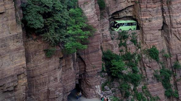 Тоннель Голяндун: километровый 'коридор в отвесной скале', проложенный вручную