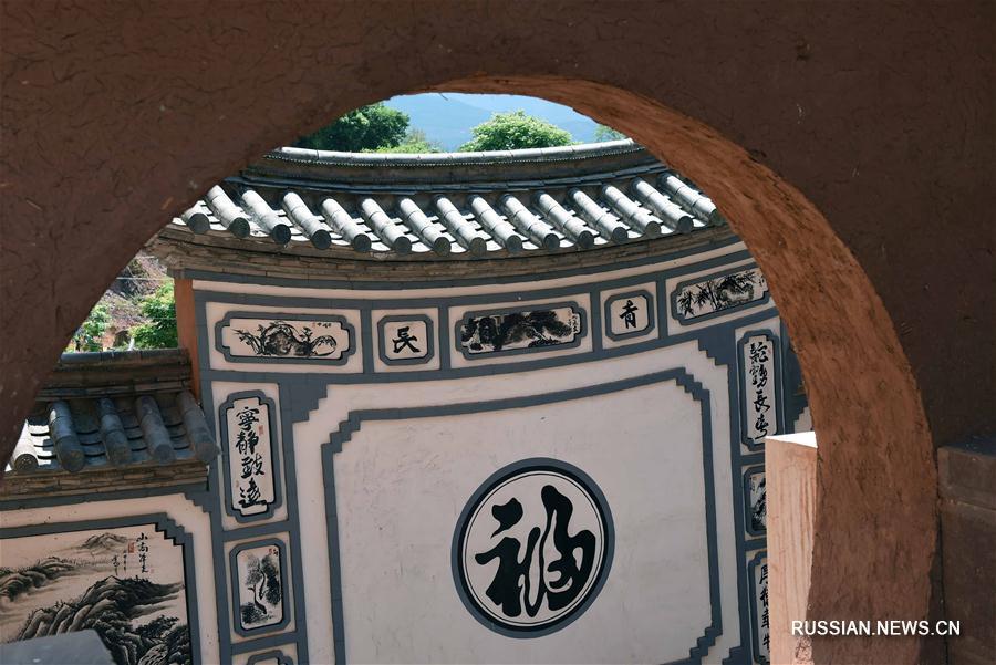 Древняя деревня народности бай в провинции Юньнань