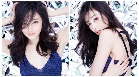 Молодая китайская актриса Чжан Тяньай