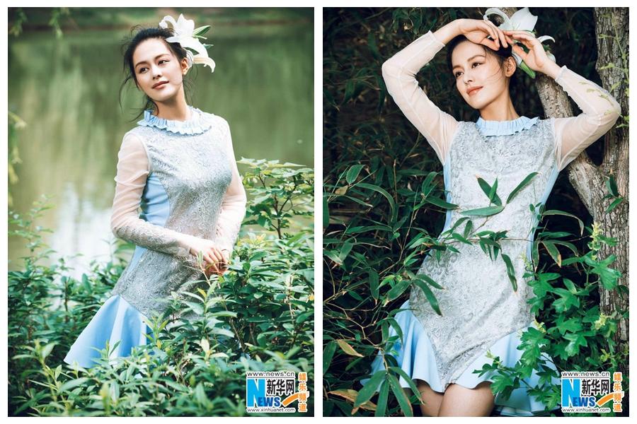Актриса Ван Ликэ попала на модный журнал