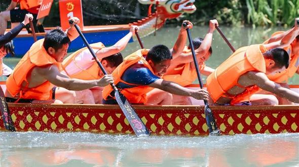 В Ханчжоу прошла 6-я Регата на лодках-драконах среди именитых вузов Китая