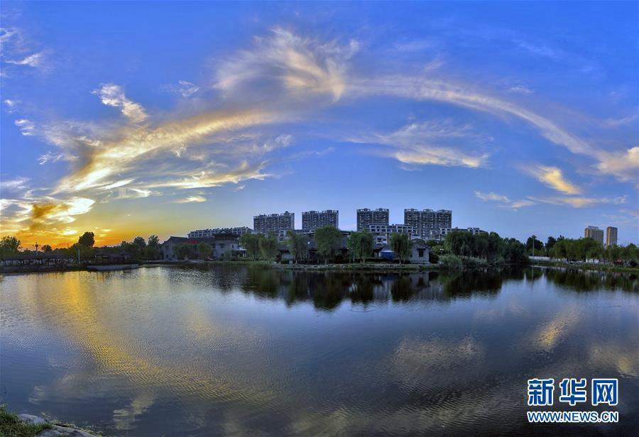 Провинция Аньхой: живописный закат после дождя
