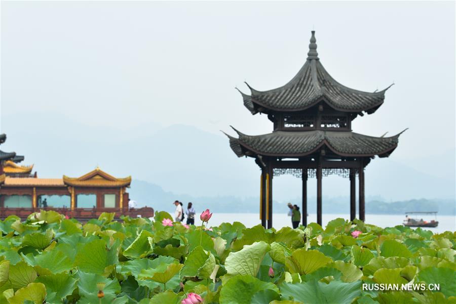 Летний день на озере Сиху