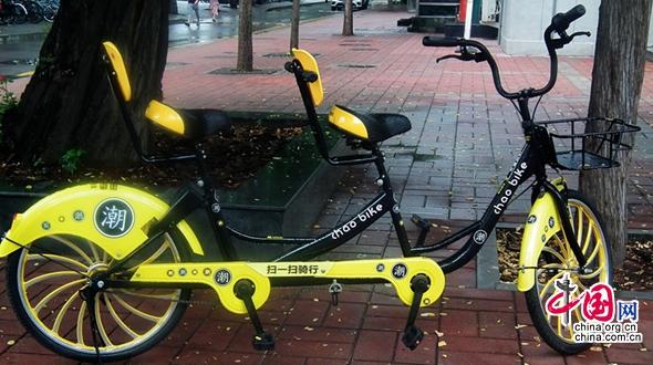 На пекинских кампусах появились двухместные велосипеды общественного пользования