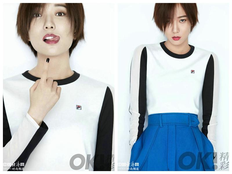 Очаровательная актриса Ван Лодань на обложке модного журнала «OK! Magazine China»