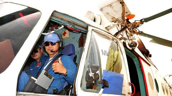Вертолеты китайских миротворцев совершили первый полет в Судане