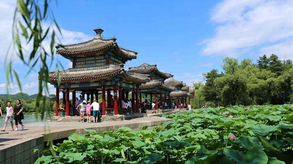 Резиденция Бишушаньчжуан в летний день