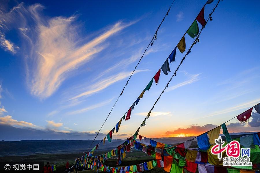 На фото: уезд Аба Аба-Тибетско-Цянского автономного округа в провинции Сычуань после землетрясения. (9 августа)