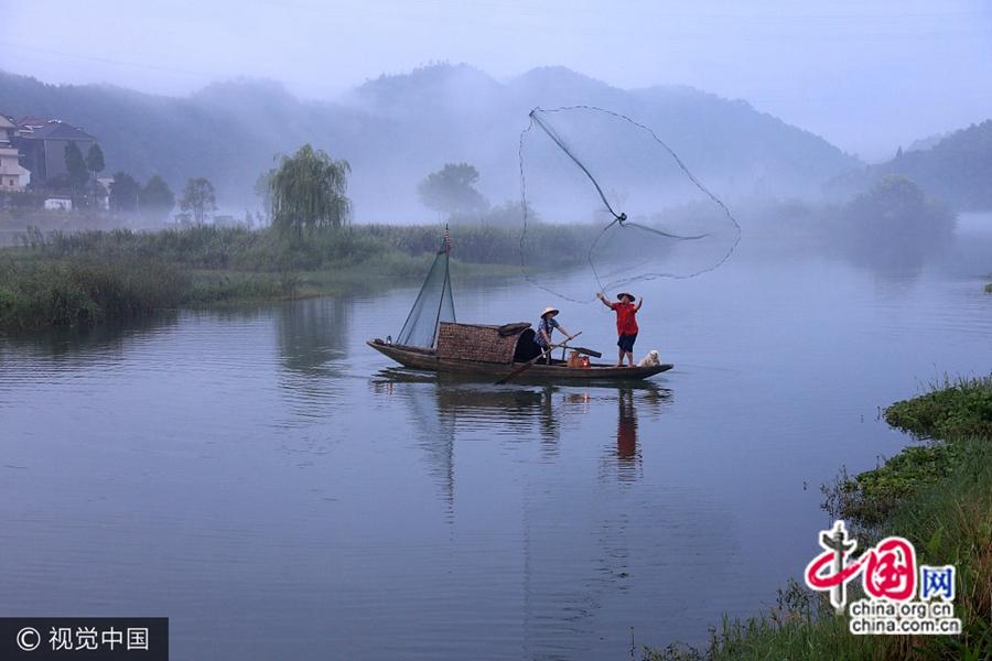 Пейзажная река Синьаньцзян, г. Ханчжоу