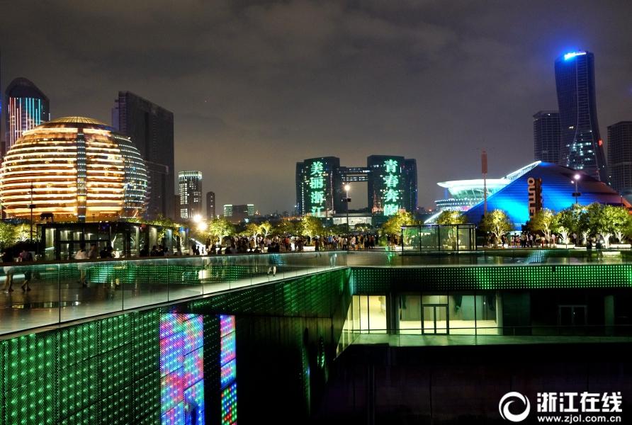 В Ханчжоу зажглись огни светового шоу по случаю 13-й Всекитайской спартакиады студентов