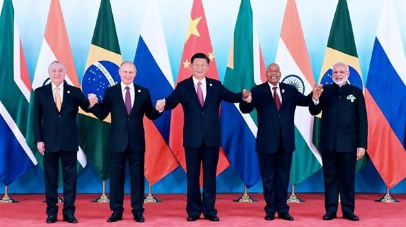 Си Цзиньпин председательствовал на 9-й встрече лидеров стран БРИКС в Сямэне