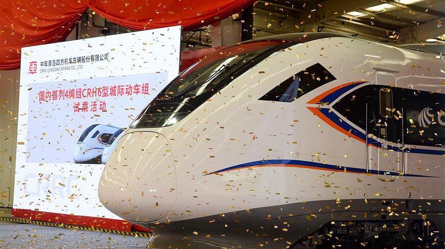 В Циндао начались испытания поезда CRH6