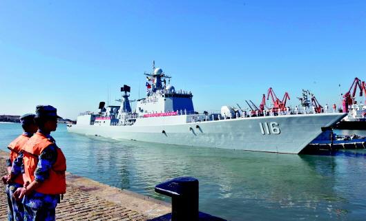 Флотилия кораблей ВМС НОАК отправилась в Россию для участия в совместных учениях