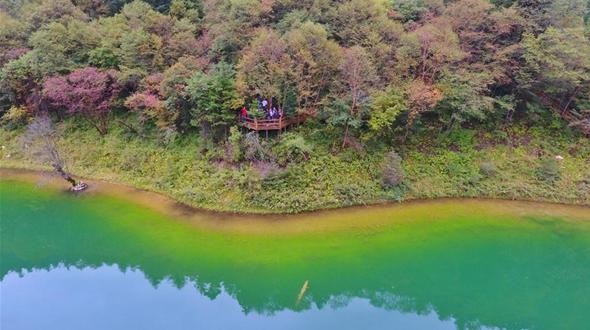 Живописные осенние пейзажи в национальном лесопарке Гуаньэгоу