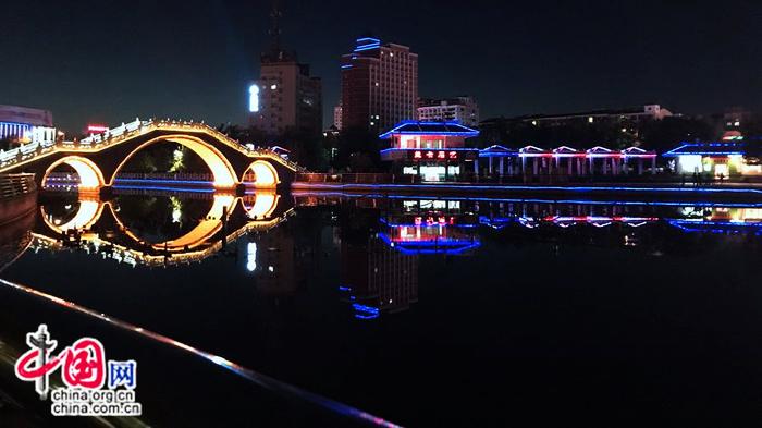 Ночной вид на городской округ Карамай