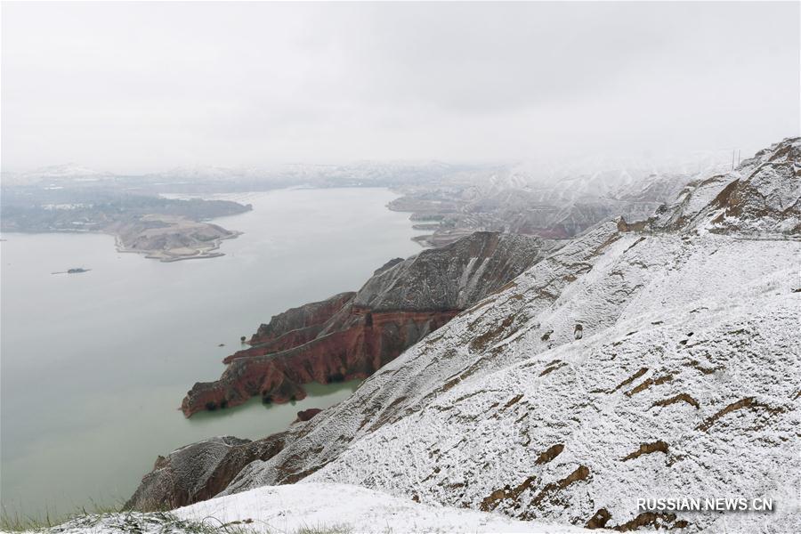 Снегопады обрушились на часть районов Внутренней Монголии и пров. Ганьсу