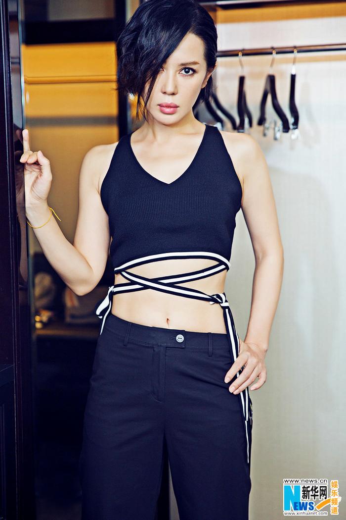 Юй Нань в новых фото со спортивным стилем