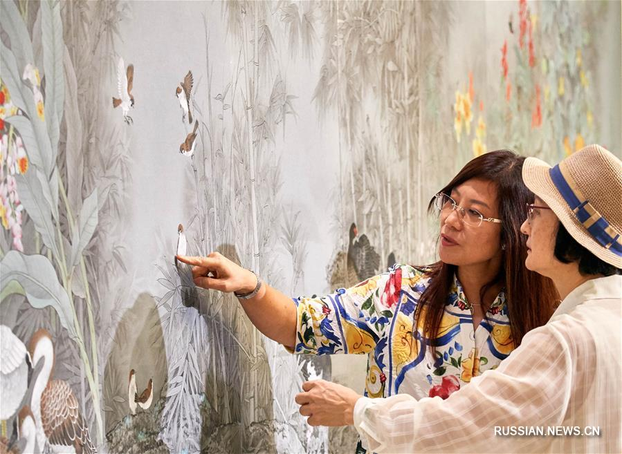 Выставка живописи 'гунби' двух берегов Тайваньского пролива открылась в Тайбэе