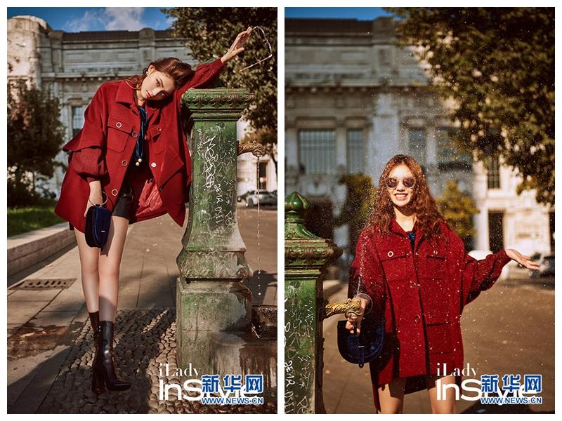 Актриса Линь Юнь создает модный образ