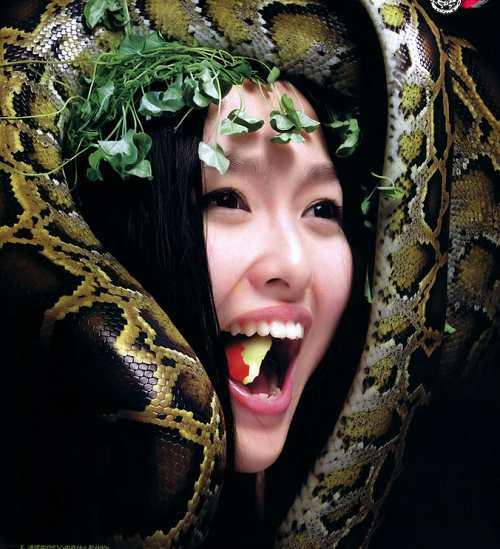Eva y serpiente, sexy chica2