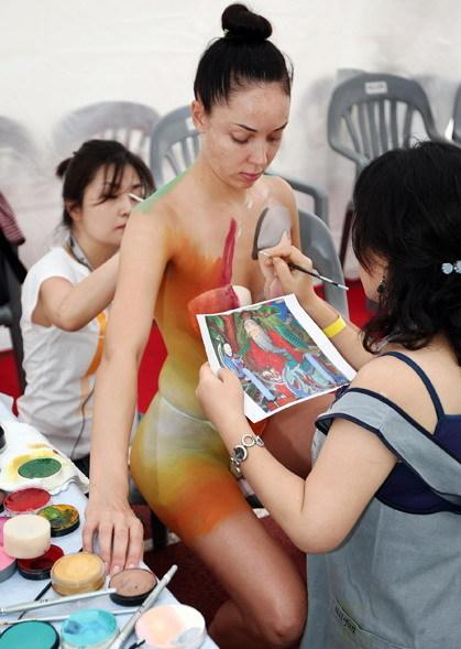Pintura En Cuerpo De Mujeres Hermosas Spanish China Cn