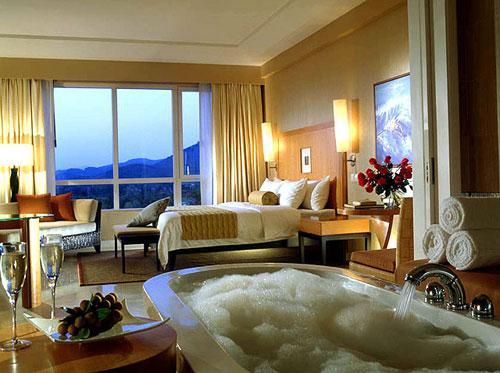 Los diez mejores cuartos de ba o de los hoteles de sanya for Detalles en habitaciones de hotel