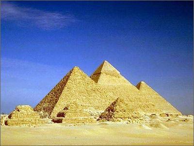 La pirámide de Keops de Egipto